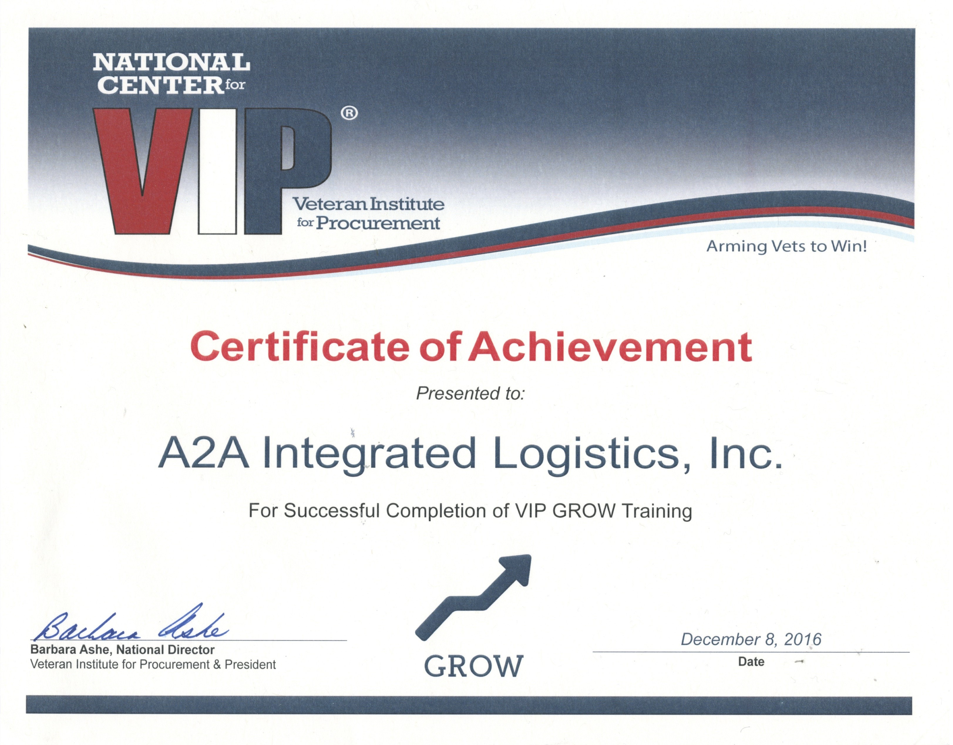 Certifications A2a Logistics